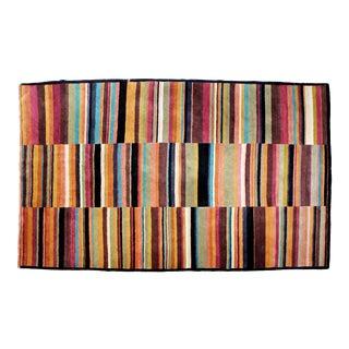 Contemporary Pangden Pattern Tibetan Rectangular Area Rug Carpet, 1990s For Sale