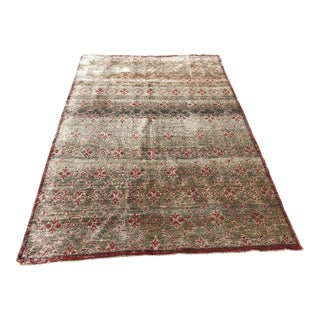 "1930s Turkish Oushak Wool Rug - 4'8""x7'3"""