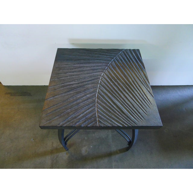 Modern Hand Carved Fossil Table For Sale - Image 3 of 8