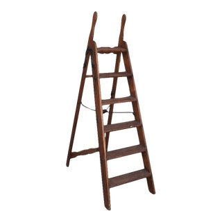 19th Century Library Ladder With Original Iron Hardware For Sale