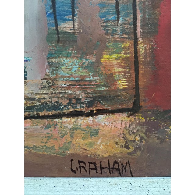 1940s Ellwood Graham Abstract Landscape Painting For Sale - Image 4 of 10
