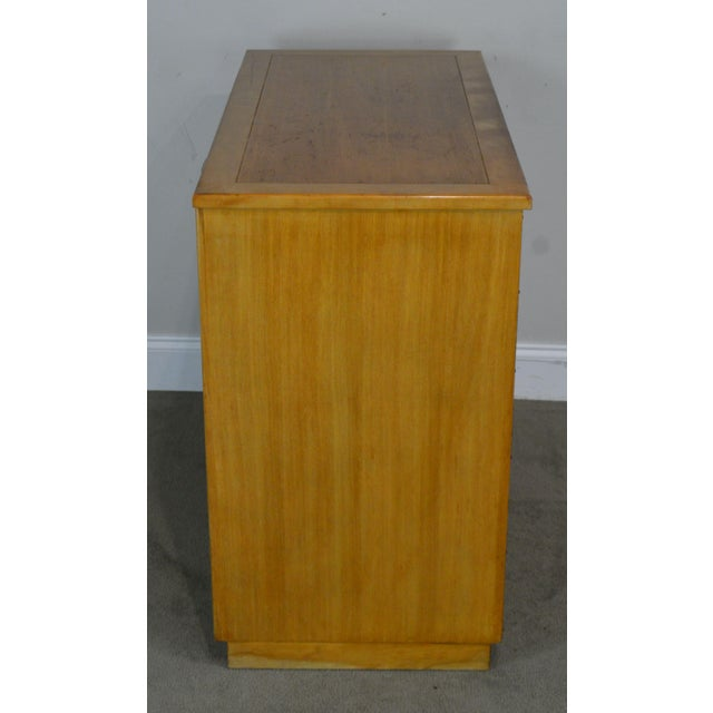 Tan Edward Wormley for Drexel Precedent Pair Mid Century Modern Chests For Sale - Image 8 of 13