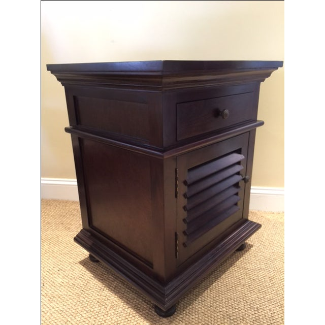 Traditional Noir Shutter Side Table For Sale - Image 3 of 6
