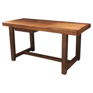 French 19th Century Beech and Oak Work Table From Burgundy For Sale