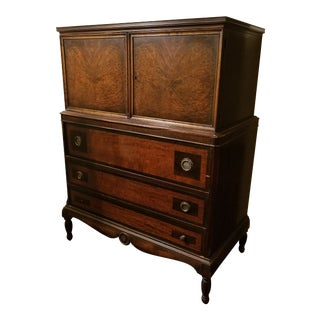 1924 Traditional Wooden Chifforobe For Sale