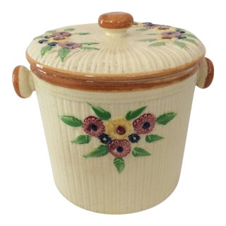 Mid-Century Japanese Hand Painted Kitchen Canister/Cookie Jar For Sale