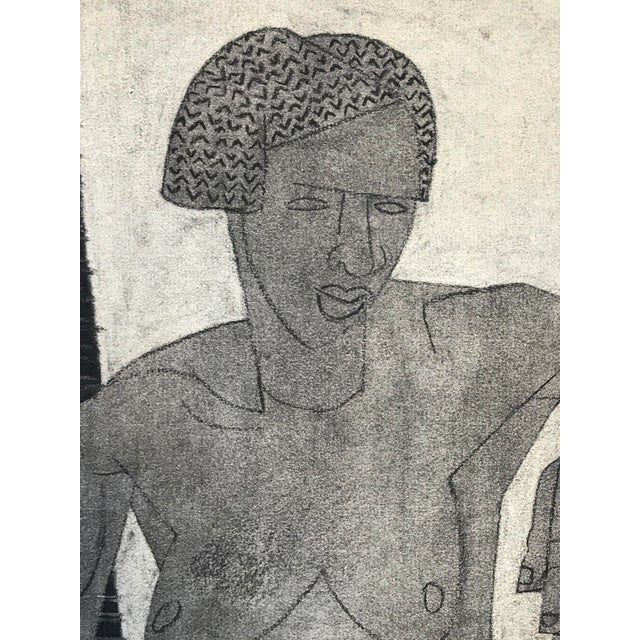 1929 Cubist Charcoal Nude Drawing For Sale - Image 4 of 9