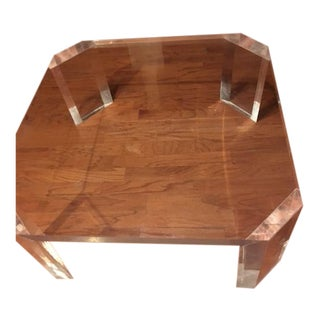 Charles Hollis Jones Mid-Century l'Ami Lucite Coffee Table For Sale