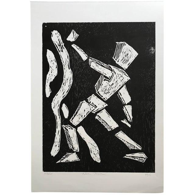 Pablo Pino Hombre Povera Linocut Print For Sale
