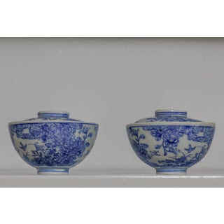 Antique Japanese Blue and White Bowls - a Pair Preview