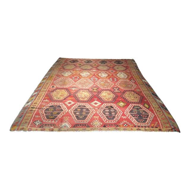 "Bellwether Rugs Vintage Turkish Kilim Rug - 8'3"" x 10'8"" - Image 1 of 11"