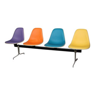 Vintage Mid Century Eames Tandem Shell Bench For Sale