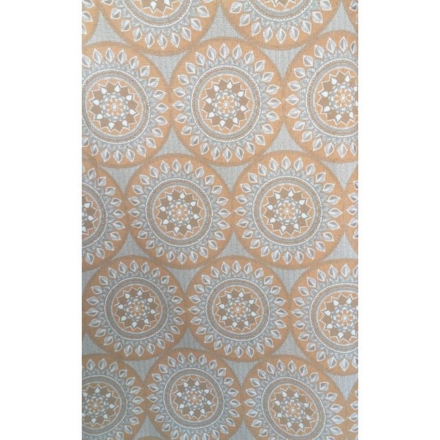 Duralee Medallion Tangerine Fabric - 5 Yards - Image 2 of 4