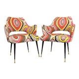 Image of Vintage Italian Armchairs- a Pair For Sale
