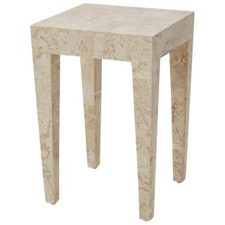 Post Modern Tessellated Cantor Stone Cube Side Table, 1990s