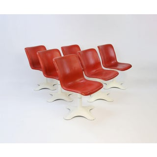Mid Century Modern Yrjo Kukkapuro for Haimi, Finland Leather Dining Chairs- Set of 6 Preview