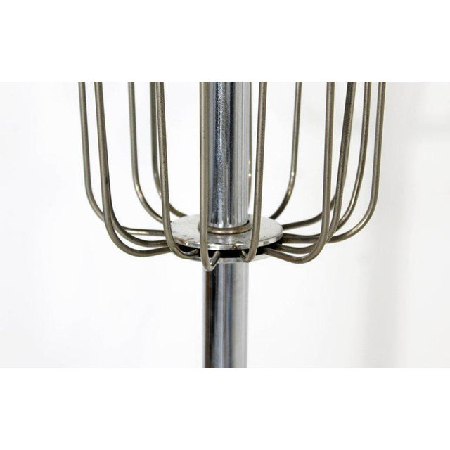 Silver Mid-Century Modern Chrome Floor Lamp Lucite Balls by Laurel For Sale - Image 8 of 11