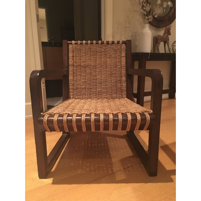 Dark Mahogany Penelope Woven Chairs - A Pair - Image 2 of 7