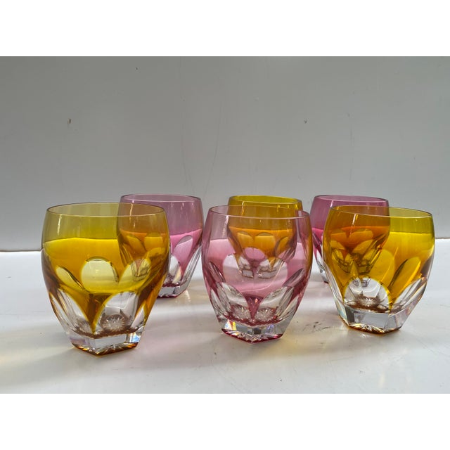 Yellow Moser Double Old Fashion Glasses - Set of 6 For Sale - Image 8 of 8