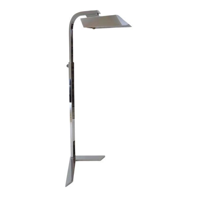 Vintage Casella Style Floor Lamp - Adjustable Polished Chrome For Sale