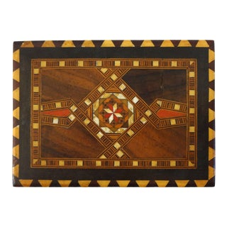 Late 20th Century Moroccan Khatam Wood Inlay Box For Sale