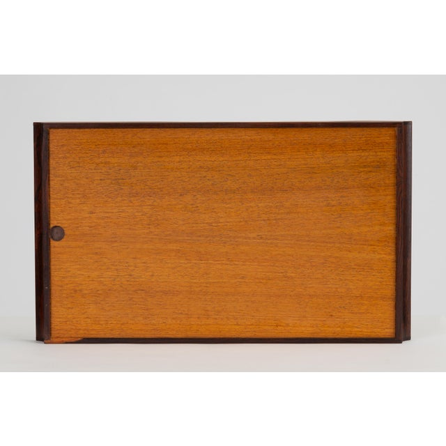 Trompe L'oeil Rosewood Tray by Don Shoemaker for Señal For Sale In Los Angeles - Image 6 of 10