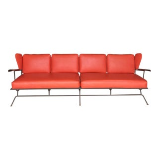 OutstandingIron Wingback Sofa Max Stout For Sale
