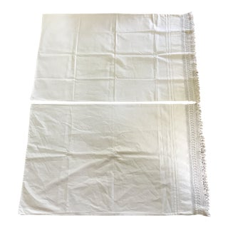 20th Century Cottage White Pillowcases - A Pair For Sale