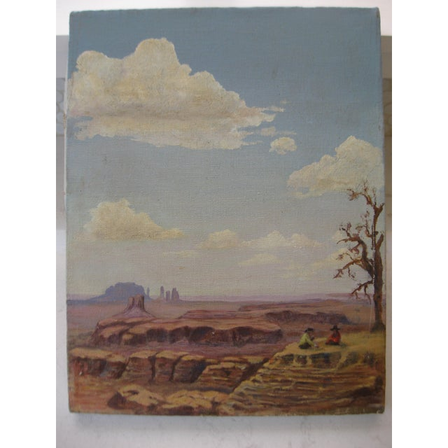 Desertscape Oil on Canvas, Dated 1978 - Image 2 of 3