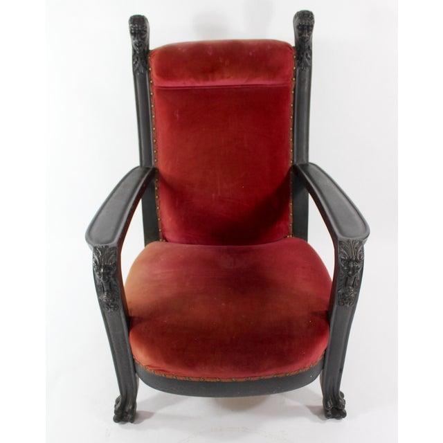 reputable site 50801 b8b61 Victorian Devils Head Throne Chair