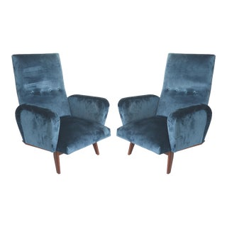 Petite Mid Century Italian Modern Club Chairs- a Pair For Sale