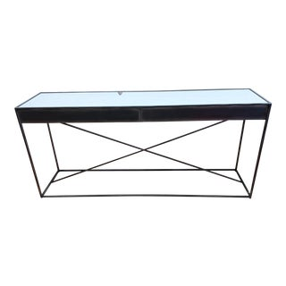 Restoration Hardware Gramercy Mirrored Console Table For Sale