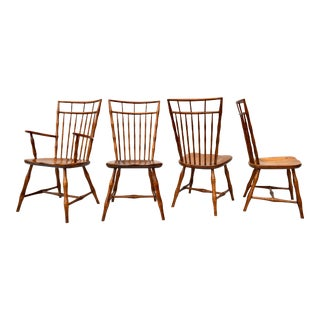 1960's Birdcage Windsor Chairs, Set of 4 For Sale