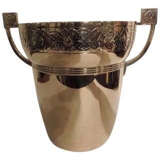 Art Nouveau Polished Brass Champagne Cooler For Sale