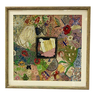 Antique Hand-Stitched Story Tapestry For Sale