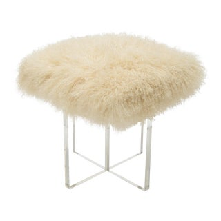 Curly Kiss Beige Footstool For Sale