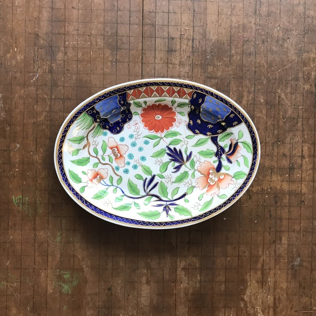 Ashworth Ironstone 1820s Gaudy Ironstone Platters - a Pair For Sale - Image 4 of 11