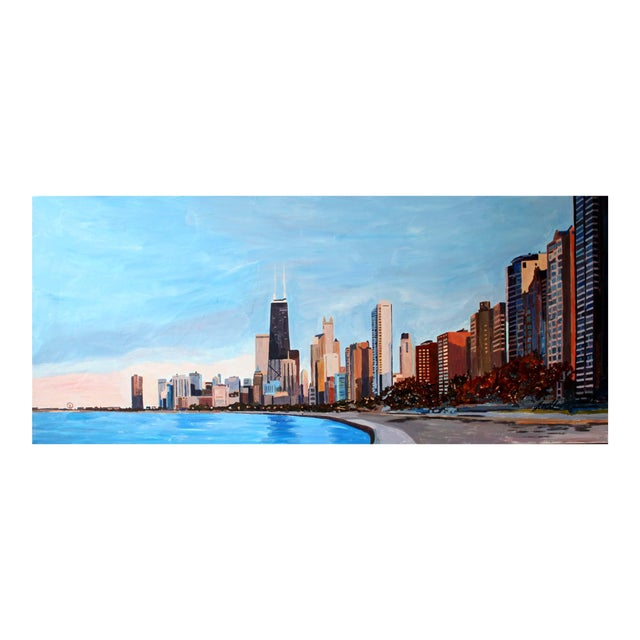 Lakeshore Drive Painting Giclee Print by Josh Moulton For Sale