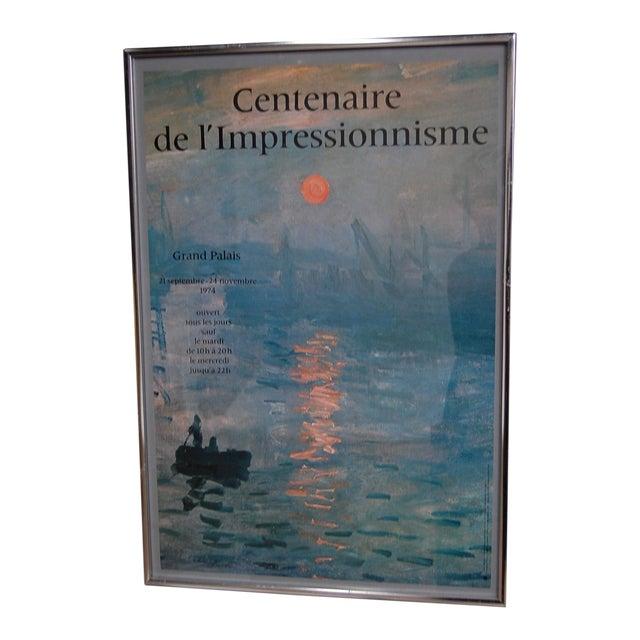 """""""Centenaire de l'impressionnisme"""" Framed Grand Palais Exhibition Poster - Image 1 of 7"""