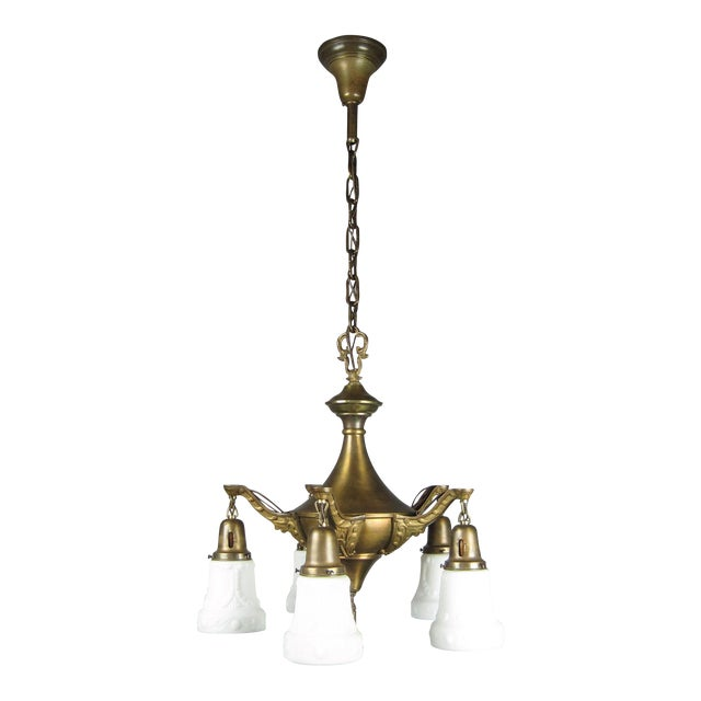 Original Pan Light Fixture (5-Light) For Sale