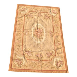 """Hand Knotted Flatweave Aubusson Rug - 4"""" X 6"""" New With Tags, Unused For Sale"""