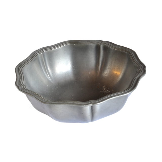 Vintage French Pewter Bowl For Sale