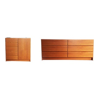 Mid Century Danish Modern Teak Scan Coll Dressers - A Pair For Sale