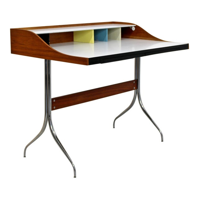 Mid-Century Modern Early Production George Nelson Herman Miller Swag Leg Desk For Sale