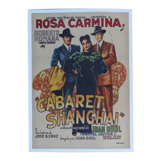 1950s Vintage Cabaret Shanghai Mexican Movie Poster For Sale