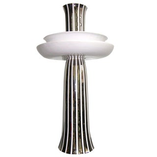 Ceramica Gatti Unusual Reversible Centerpiece / Vase Decorated With Pure Platinum For Sale