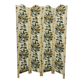 Vintage Chintz Screen For Sale