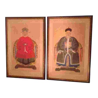 C.1900 Chinese Ancestral Portraits For Sale