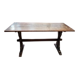 English Oak Refectory Table C.1920 For Sale