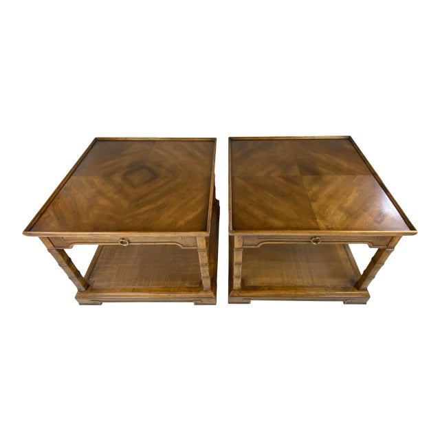 1960s Drexel Heritage Asian Style Side Tables - a Pair For Sale